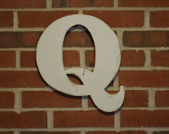 """Wooden Letter Small 18"""" h Rustic Letter Wooden Wall Sign Primitive Distressed Cottage Chic"""