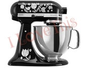Pyrex Black Tulips vinyl decals - Perfect for your mixer