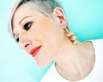 Cork Earrings - Ecofriendly Jewelry - Handmade Earrings - Repurposed - Upcycled Earrings - Upcycled Jewelry - Eco Fashion - Boho Jewelry