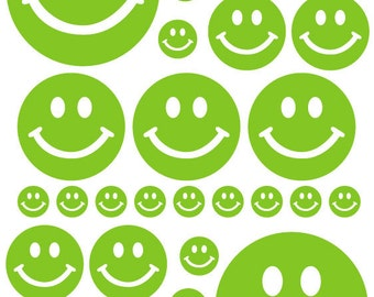 green smiley face etsy