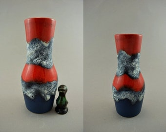 Vintage vase made by Dumler & Breiden / 116 21 / Fat Lava | West German Pottery | 60s