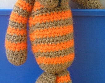 Cute Stripey Crocheted Cat