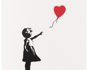 Girl With Red Balloon by Banksy Art Print
