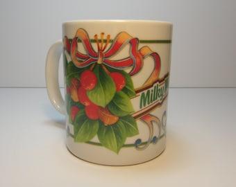 Vintage Milky Way Candy Bar Ceramic Christmas Mug, M&M Mars Advertising
