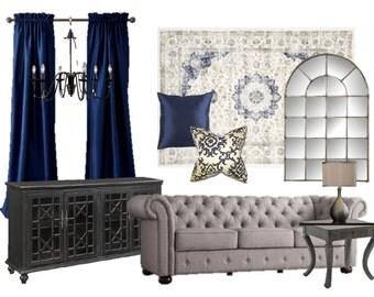 e-Design- Custom Interior Design Living Room