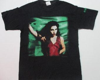 vintage 90s pj harvey 1995 stoner rock alt indy men's t-shirt size M very rare!!