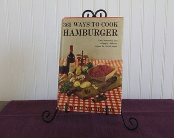 365 Ways to Cook Hamburger, Vintage Cookbook, 1960
