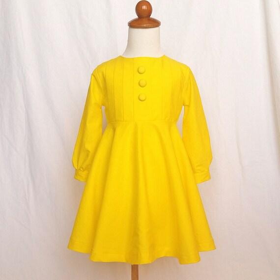 yellow morton salt girl inspired dress pdf pattern sizes 6 7 8