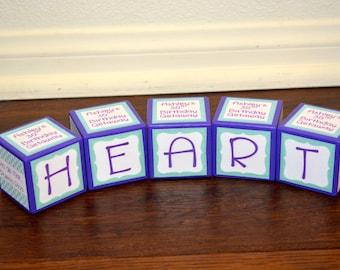 Party Favor Blocks-Personalized Wooden Blocks-Party Favor Ornaments-Personalized Keepsake Block-Baby Shower Block Favors-Wooden Photo Blocks