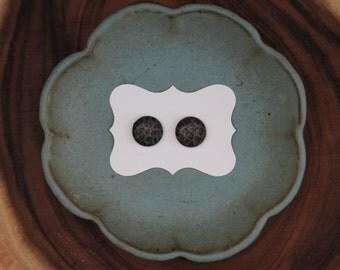 Leopard Print Button Earings