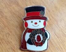 Snowman Brooch Frosty The Snowman Jack Frost Snowman Hat Snowman Wreath