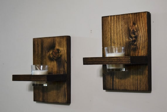 Rustic Wall Sconce For Bathroom : Candle Sconce Wall Sconce Bathroom Decor Rustic Candle