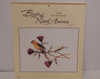 Vintage Birds of North America 1987 Fine Arts Calendar American Greetings Company
