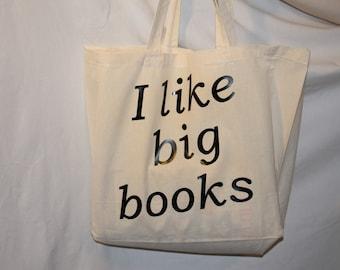 I Like Big Books - Cotton Tote Bag