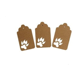 Wolf Tracks Gift Tags