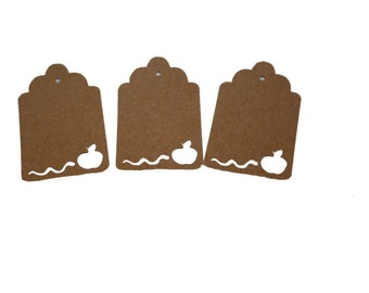 Apple and Worm Gift Tags