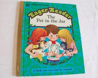 Vintage 1974 Little Golden Book The  Pet in the Jar Eager Reader Book
