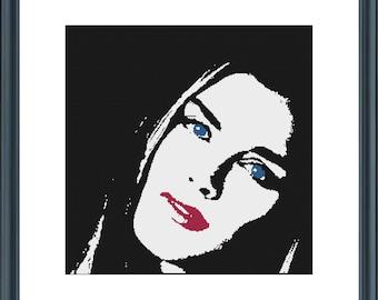 Brooke Shields cross stitch pattern,pdf file