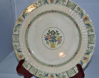 Mintons / dinner plate / , 9 inch diameter / Ramsey pattern / 1930s / Minton's stamp / bottom / Minton Ramsey / Minton dinner plate / plate.