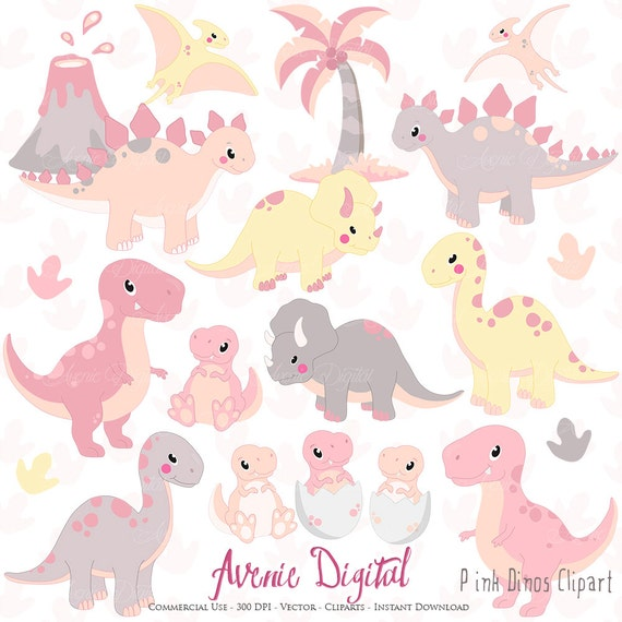free girl dinosaur clipart - photo #21
