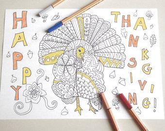 Om pagina da colorare per adulti libro da di lasoffittadiste - Libero tacchino da colorare pagina ...