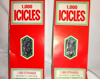Christmas icicles vintage