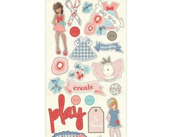 SALE! Paper Dolls Chipboard - Julie Nutting  (PD2157)