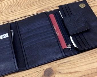 Sale!!! Black leather wallet leather women wallet Women's Gift for Women Wallet leather trifold wallet women leather billfold ladies gifts