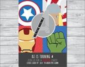 Avengers Birthday Invitation, DIY Invitation, Digital Invitation, Custom Invitation, Birthday Party Invite, Boy Birthday Party