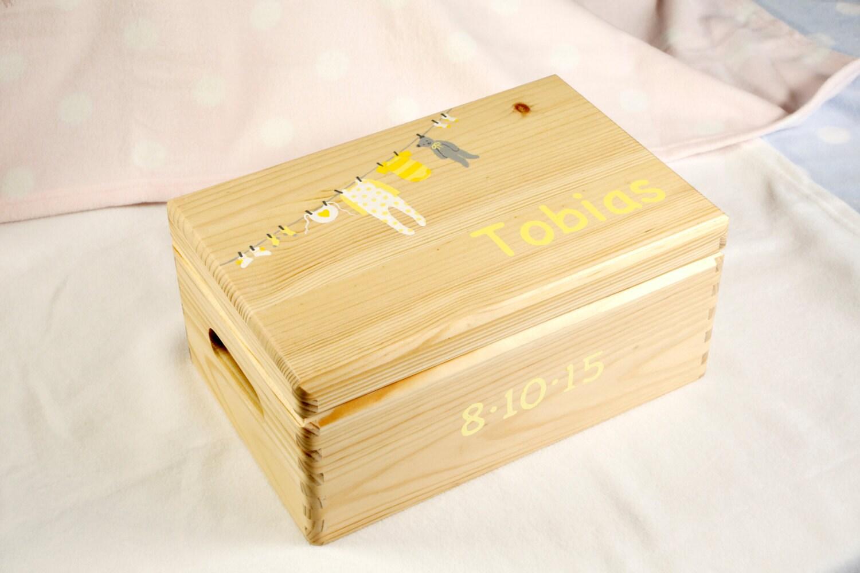 baby keepsake box baby memory box personalised baby gift. Black Bedroom Furniture Sets. Home Design Ideas