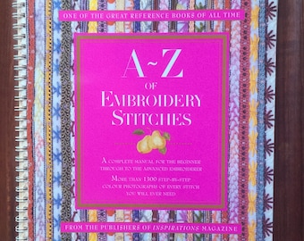Inspirations magazine's  A-Z OF EMBROIDERY STITCHES ~~ Country Bumpkin.  1997, 1998 printing