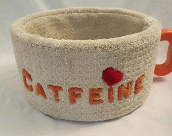 "Cat furniture.The original ""CATFEINE "" condo. Feline bed.One of a kind."