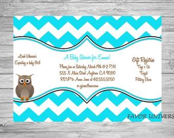 Baby Shower Invitation, Owl Baby Shower, Baby Shower Invites, Baby Shower Invitation Boy, Owl Decor, Owl Invitation, Owl Items