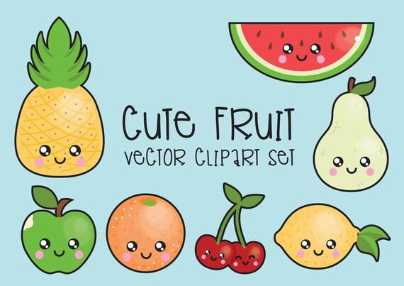Premium Vector Clipart Kawaii Fruit Clipart Kawaii Clip