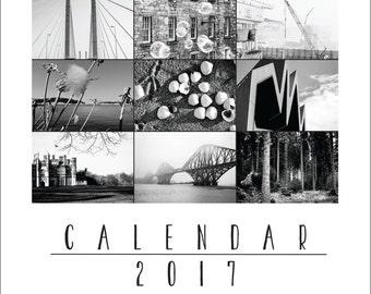 PRINTABLE 2017 WALL CALENDAR instant download, Photography calendar, Digital photo calendar, Printable calendar, A6 A5 calendar, A4 calendar