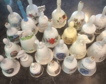 Bell Collection. 24 Porcelain collectible Starter Bells. SEE LIST BELOW