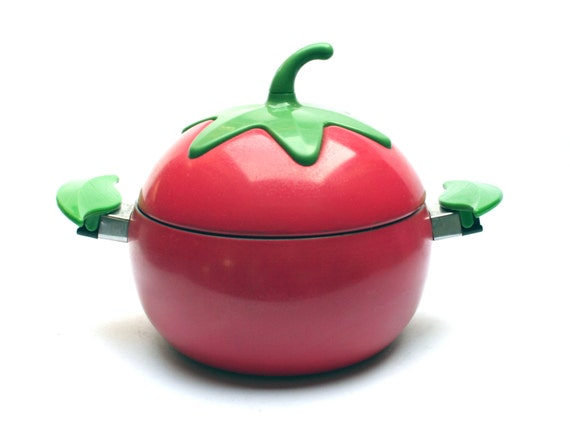 articles similaires cocotte en forme de tomate rouge casserole fait tout forme amusante. Black Bedroom Furniture Sets. Home Design Ideas