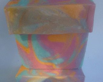 Hippie Dreams. Happy Soap. Conditioning Soap. More Than Just A Cleansing Bar. Handcrafted. Homemade. Scented Soap.