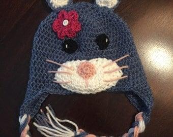 Crochet Bunny Hat, Crochet Hat, Bunny, Bunny Hat, Hat, Crochet, Photo Prop, Newborn, Easter, Girl, Toddler Hat, Baby Accessories, Winter