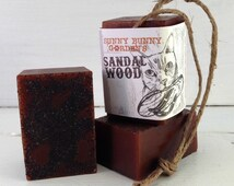 Organic Sandalwood Soap-On-A-Rope, Manly Soap, Soap Men Love, Handmade Sandalwood Soap, Gifts For Dad, Gifts For Husband, Sunny Bunny Garden