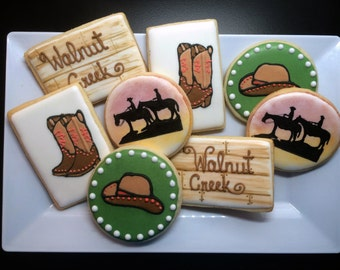 12 Trail Ride Sugar Cookies - Free Shipping!