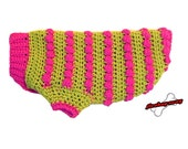 Skippy's Fantastic Pink and Green Dog Sweater