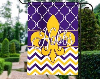 Personalized Garden Flag, Garden Flag, Football Garden Flag, Monogram Flag,  Football Season