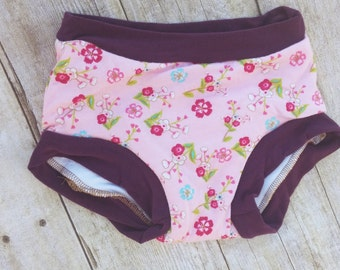 Pink Flower Cloth Training Pants for Potty Training
