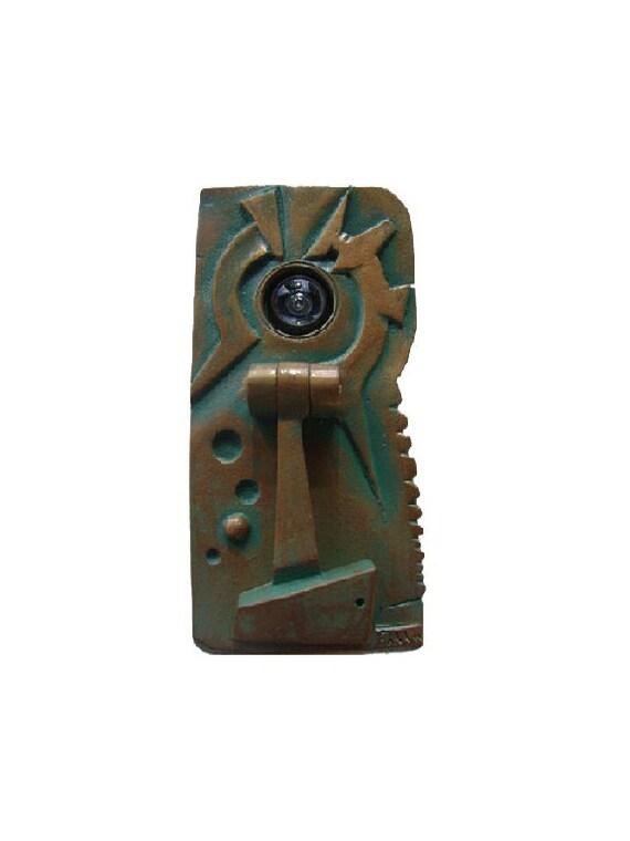 Distinguished peephole door knocker - Door knocker with peep hole ...
