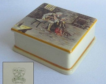 New Hall Cigarette Box titled Dr.Manette and Lucie from Tale of Two Cities