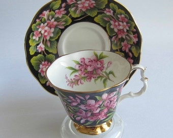 Free Shipping Royal Albert Provincial Flowers FIREWEED Bone China Tea Cup and Saucer