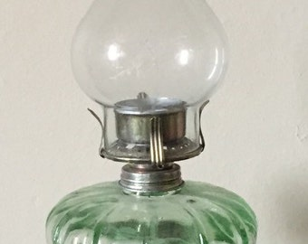 Antique vintage oil lamp
