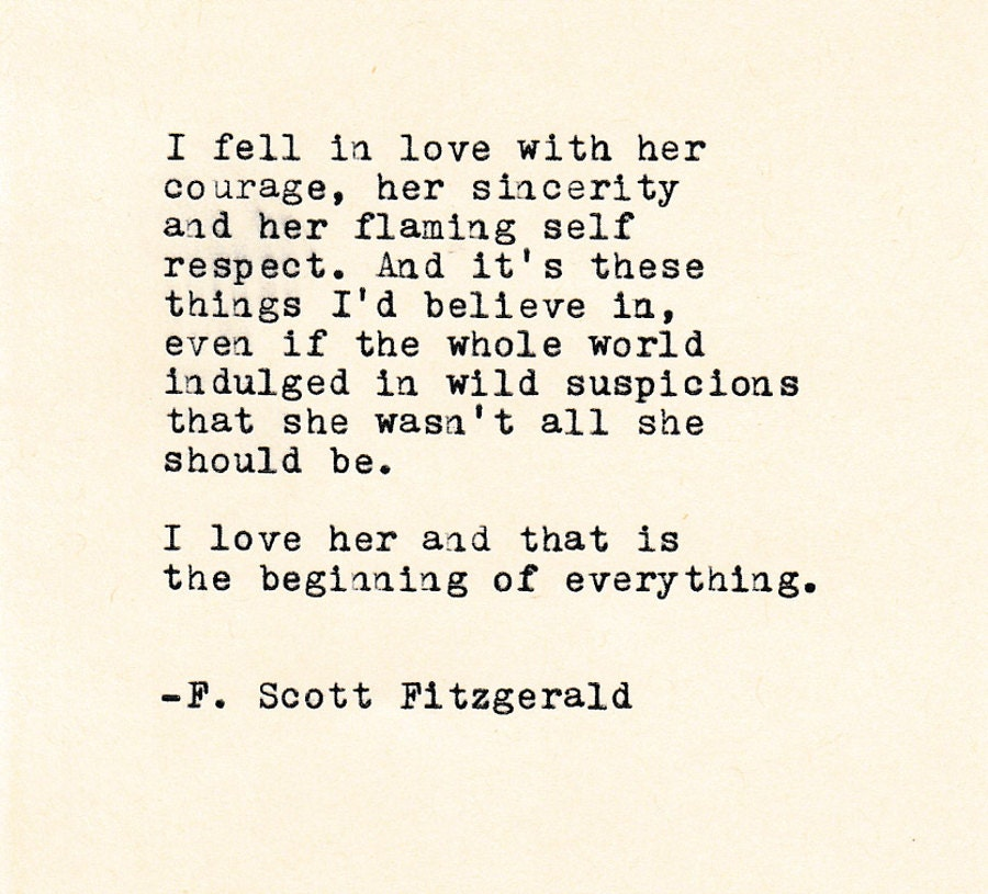 F Scott Fitzgerald Love Quotes: Love Quote THE F. SCOTT FITZGERALD Made On