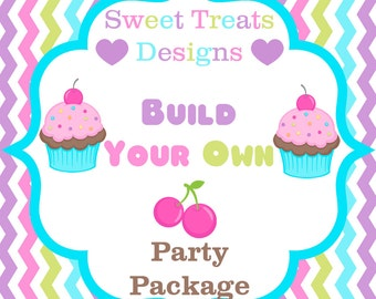 Build Your Own Party Package - 5 Sizes available - Digital File - You Print
